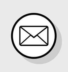 Letter sign flat black icon vector