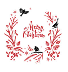 merry christmas holiday design vector image