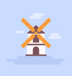 mill vector image