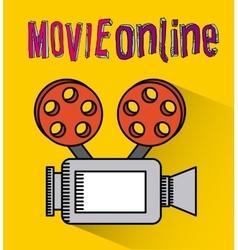 Movie online vector