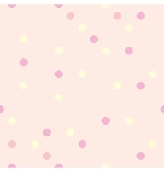 Pastel polka dots on pink background tile pattern vector image vector image