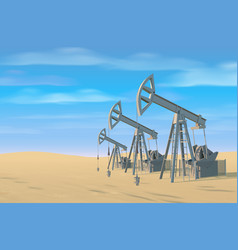 petroleum rigs oil drill background image vector image