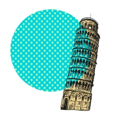 Pisa cityscape drawing vector image vector image