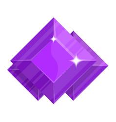 Purple jewelry amethyst icon vector