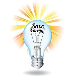 Save energy theme with lightbulb vector