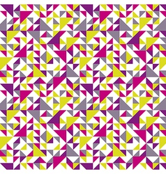 seamless triangle background pink vector image vector image
