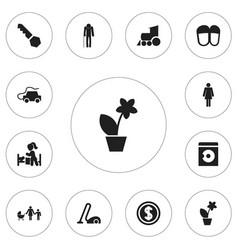 Set of 12 editable kin icons includes symbols vector