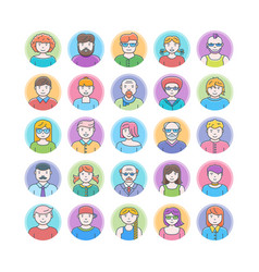 set of flat design avatars vector image vector image