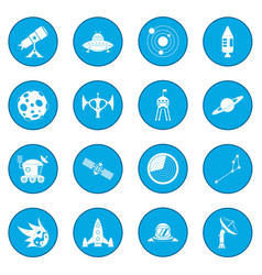 Space icon blue vector