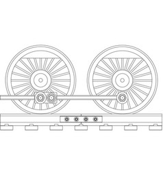steam train wheels vector image