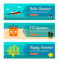 Travel and vacation banners vector