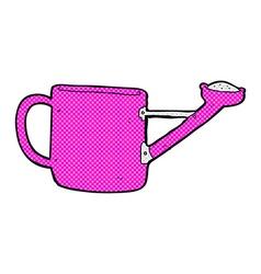 Watering can comic cartoon vector