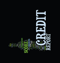 Z credit report and score text background word vector