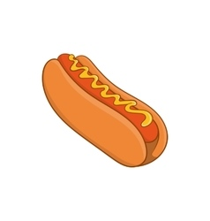 Hot dog icon cartoon style vector image