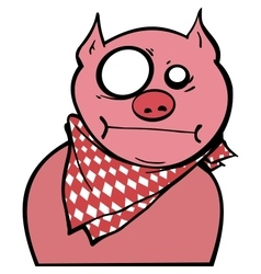 Pink pig graffiti vector