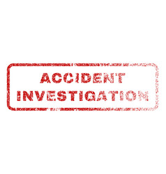 Accident investigation rubber stamp vector