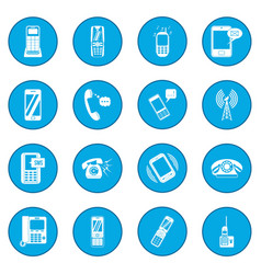 phone icon blue vector image