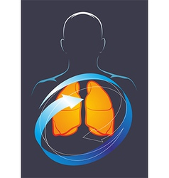 Health of their lungs vector