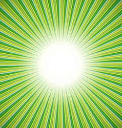 Green burst background vector