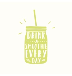 Drink smoothie everyday jar silhouette vector