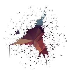 Triangle-shaped ink splatter vector