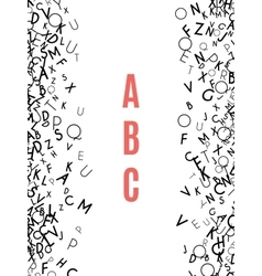 Alphabet frame isolated on white background vector