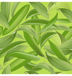 Tropical Leaves Background Vintage Seamless vector image