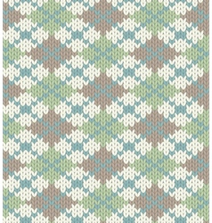 Knitted pattern with rhombus vector