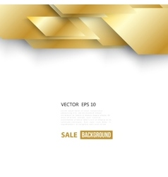 abstract geometric gold background vector image