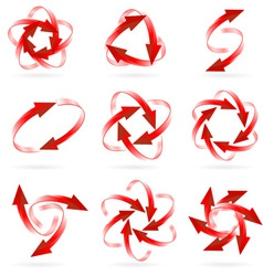 arrow logos vector image vector image