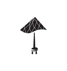 Beach umbrella icon simple style vector image