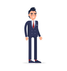 Businessman character isolated vector