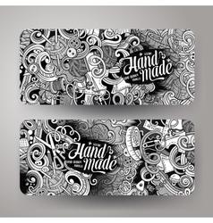 Cartoon doodles handmade corporate identity vector image