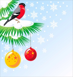 Christmas tree its snowing vector image