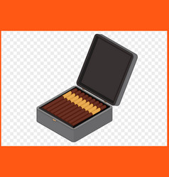 Cigar box vector