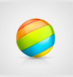 Colorful ball of tape vector
