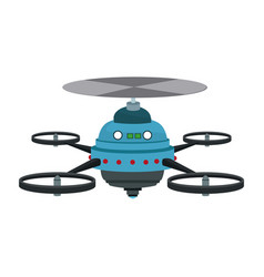drone fly gadget technology remote propeller vector image