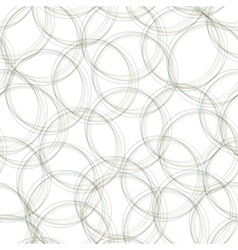 Gray overlapping circles seamless pattern light vector