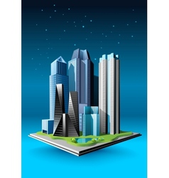 Group of buildings vector
