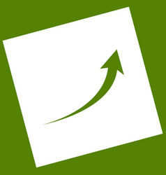 Growing arrow sign white icon obtained as vector