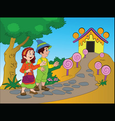 hansel and gretel vector image