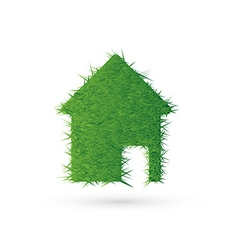 House icon and ecology EPS10 vector image vector image