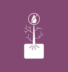 Icon thirsty plant vector