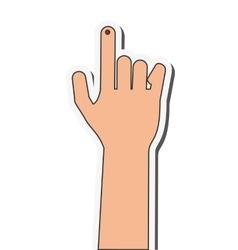 Index finger bleeding icon vector