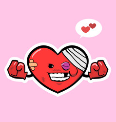 injury heart with smile vector image