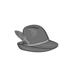 Irish hat icon black monochrome style vector image vector image