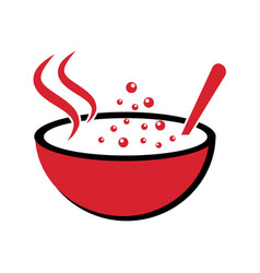 logo for the theme soups vector image