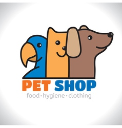Logo shop pet vector