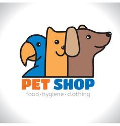 Logo shop pet vector image vector image