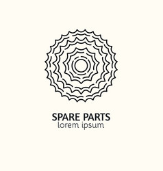 modern linear style bicycle spare parts logotype vector image